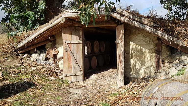 One of the oldest wine cellars in Marlborough, at Auntsfield, New Zealand